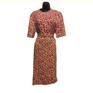 Gene Roye Vintage 1960's 100% silk floral Dress
